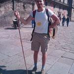 """11.09.2009: David auf dem """"Praza do Obradoiro"""""""