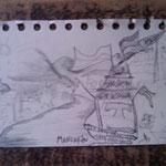 01.09.2009: Manjarin, Zeichnung von Rachel