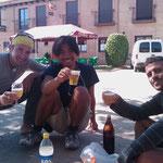 """26.08.2009: Zusammen mit Luca & Nico in """"El Burgo Ranero"""""""
