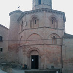 """15.08.2009: 'Magische' 8-eckige """"Kirche des heiligen Grabes"""" aus dem 12. Jahrhundert in """"Torres del Rio"""""""