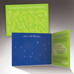 Make-A-Wish Foundation /  Event fundraiser mailing (Golf-green holes were diecut so that they became backlit, illuminated stars when the brochure was opened. / copy: Andy Garon & Co.