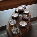 Ready für die Bier-Degustation.