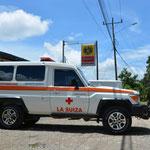 """Unsere """"Kollegen"""" - das Rote Kreuz aus La Suiza, einem kleinen Dorf in Costa Rica."""