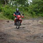 Claudio hatte sich schnell wieder ans Motorradfahren gewöhnt.