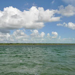 Laguna de Bacalar am nördlichen Ende.