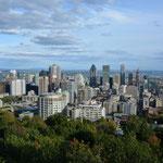 Blick auf Montréal vom Mont Royal.
