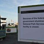 Der Shutdown machte sich bemerkbar...