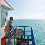 Mit der Autofähre schipperten wir zur Isla Mujeres.