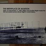 Die Geburtsstätte des ersten, erfolgreichen Motorfluges.