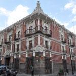 Casa del Alfeñique - die Verzierungen am Haus sehen aus wie die Verzierungen einer Torte.