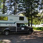 BC-Hydro-Übernachtungsplatz auf Vancouver Island