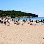 Der Sand Beach, einer der wenigen Sandstrände an Maine's Küste, war sehr gut besucht.