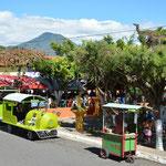 """Am Wochenende während der """"feria gastronomica"""" war mächtig etwas los in Juayúa."""