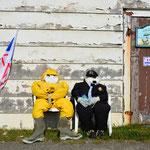 Neufundländer sind von Natur aus gemütliche Typen.