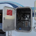 Leerer Gaskasten und durchgeschnittene Leitungen - nicht gerade das, was man sich wünscht.
