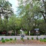 Der Chippewa Square in Savannah. Hier wartete Forrest Gump jeweils auf den Bus :-)