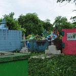 Der farbenfrohe Friedhof in Livingston.