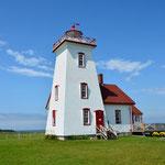 Für uns der letzte Leuchtturm auf PEI im Wood Island Provincial Park.
