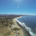 Der Strand aus der Vogelperspektive.