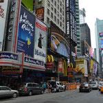 Erste Eindrücke vom Times Square.