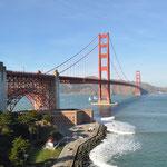 Ein Wiedersehen mit der Golden Gate Brücke. Zum Glück stimmte das Wetter auch dieses Mal.