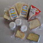 Unsere Ausbeute... von Brie über Raclette-Käse, alles ist dabei.