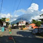 Sicht aus Moyogalpa auf den Vulkan.
