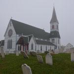 Trinity lag bei unserem Besuch total im Nebel.