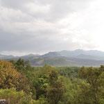 Unser Ziel in der Ferne - der Vulkan Paricutín.