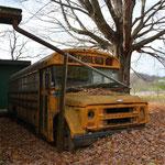 Der steht wohl schon länger da ;-) Im Schulbus lagert Fred sein Holz.