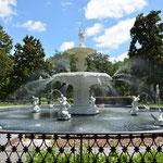 Schöner Brunnen im Forsyth Park.