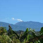 Super Blick auf den Vulkan von der Terrasse aus.