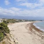 Blick auf den Strand von Santa Barbara.