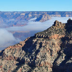 Nebel im Grand Canyon.