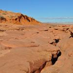 """Hier ist der Einstieg zum """"Lower Antelope Canyon""""."""