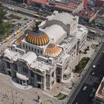 Der Palacio de Bellas Artes von oben betrachtet.