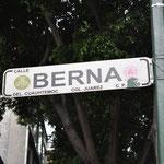 In der Zona Rosa haben die Strassen Namen europäischer Städte, sogar Bern hat es geschafft.