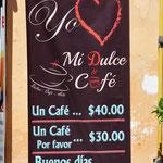 """Einmal günstig bitte, also: """"Buenos dias, un café por favor""""."""