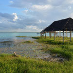 Die Laguna Bacalar. Ein Süsswassersee mit eindrücklichen Farben.
