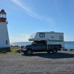 Leuchttürme sind immer schön, hier das Point Riche Lighthouse.