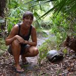 Der fauchende Stein stellte sich als Schildkröte heraus...