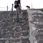 Mist, doch nicht als erster ganz oben... der Hund war schneller :-)