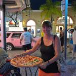 Zur Stärkung gabs ne kleine, leckere Pizza.