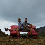 Hier hatten wir die zwei roten Stühle ganz für uns alleine.