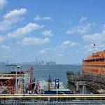 Unterwegs mit der Staten Island Ferry.