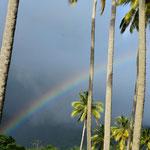 Währenddem entdeckte Claudio einen Regenbogen.