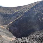 Blick auf das Kraterinnere.