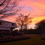 Schöne Abendstimmung auf dem Bayou Segnette State Park.