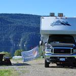 Übernachtungsplatz im Kekuli Bay Provincial Park