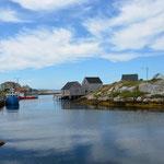 Peggy's Cove idyllischer, kleiner Hafen ist ein tolles Fotosujet.